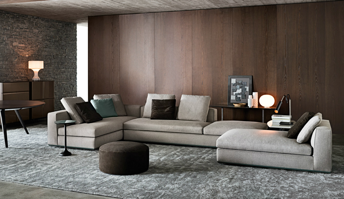 Divano powell by minotti for Minotti outlet italy