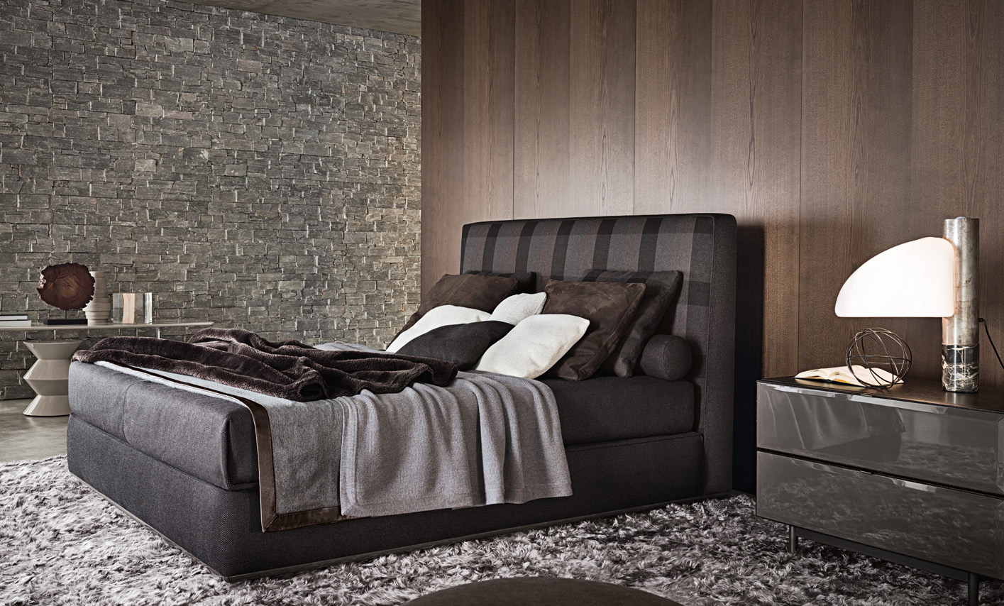 Letto powell bed di minotti design contemporaneo for Camera letto design