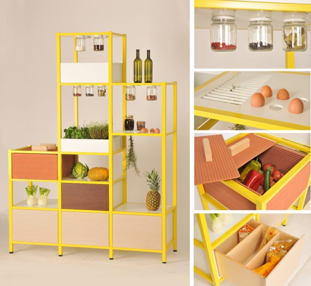 Dispensa per cucina di design fridayproject - Organizer cucina ...